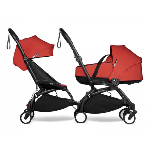 YOYO Complete Double Pushchair for Siblings- Red