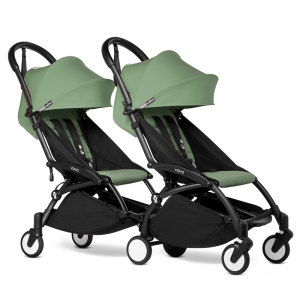 BABYZEN YOYO2 Complete Pushchair from Birth for Twins- Peppermint