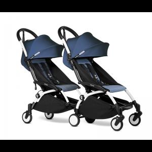 BABYZEN YOYO2 Complete Pushchair from Birth for Twins- Air France Blue