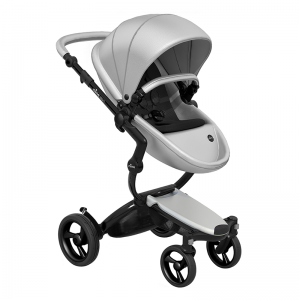 Mima Xari 3 in 1 Pushchair- Black Chassis and starter pack, Argento Pod