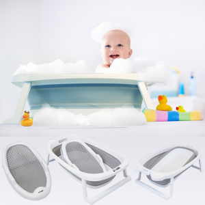 iSafe Flat Foldable Baby Bath – Aqua
