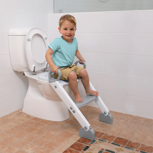 Dreambaby Step Up Toilet Trainer- Grey/White
