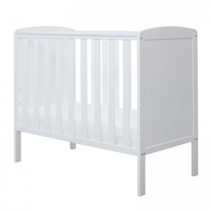 Ickle Bubba Coleby White Space Saver Cot & Mattress
