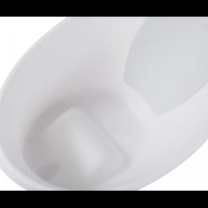 Shnuggle Bath With Plug- White with Grey