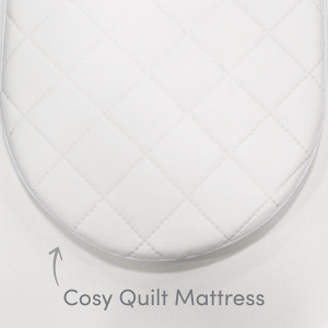 Shnuggle Cosy Quilted Moses Basket Mattress-75 x 30cm