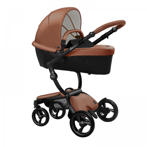 Mima Xari 3 in 1 Pushchair- Black Chassis and starter pack, Camel Flair pod