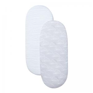 Shnuggle Moses Basket Sheet- Grey