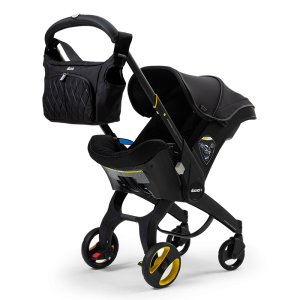 Doona Midnight Black Infant Car Seat Stroller with Essentials Bag - Limited Edition