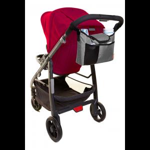 Dreambaby StrollerBuddy On The Go Stroller Organiser Bag- Grey Denim
