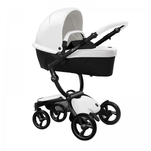 Mima Xari 3 in 1 Pushchair- Black Chassis and starter pack, White Pod