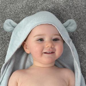 Shnuggle Wearable Baby Towel With Ears- Grey