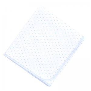 Magnolia Baby Essentials Gingham Dots Blue Baby Blanket